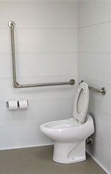 Toilet with Handrails